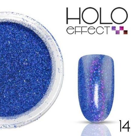 Allepaznokcie prášok na nechty HOLO efekt 14 modrý 3g