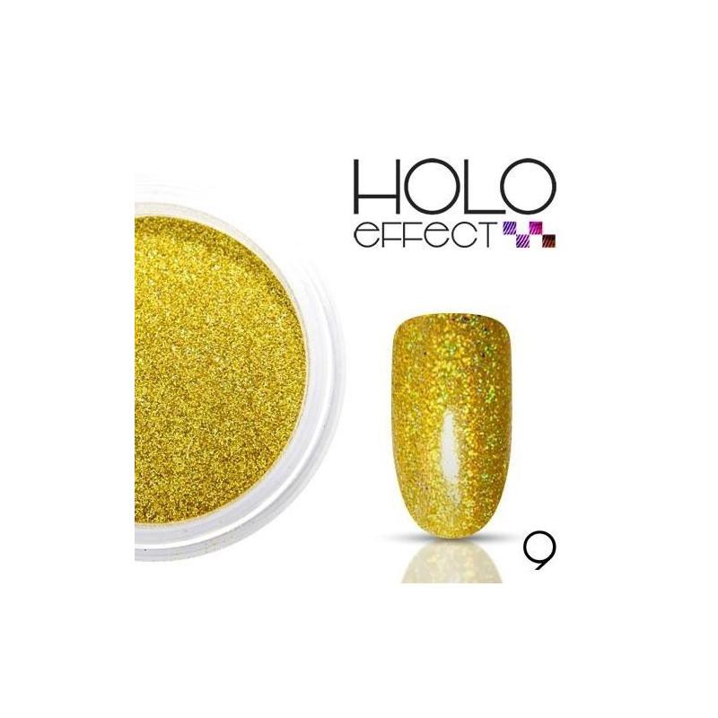 Allepaznokcie prášok na nechty HOLO efekt 09 zlatý 3g