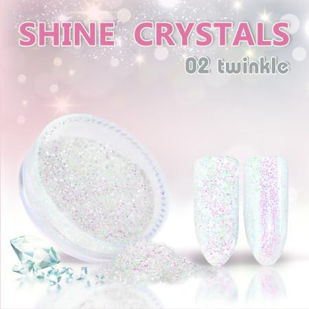 Prášok na nechty Shine crystal effect 02