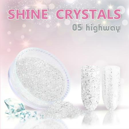 Prášok na nechty Shine crystal effect 05