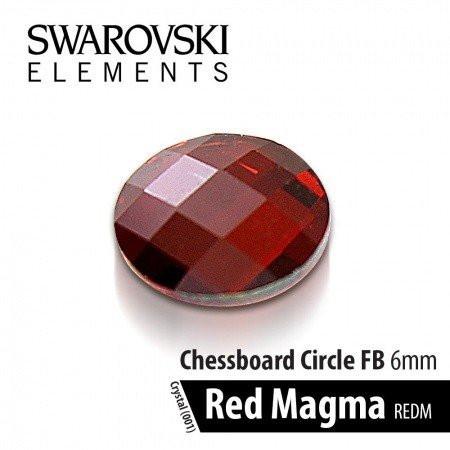 Swarovski kamienok Red Magma červený 6 mm - NechtovyRAJ.sk