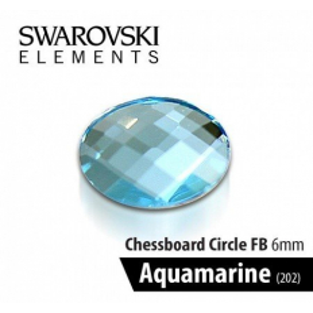 Swarovski kamienok Aquamarine modrý 6 mm NechtovyRAJ.sk - Daj svojim nechtom všetko, čo potrebujú