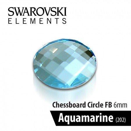Swarovski kamienok Aquamarine modrý 6 mm - NechtovyRAJ.sk