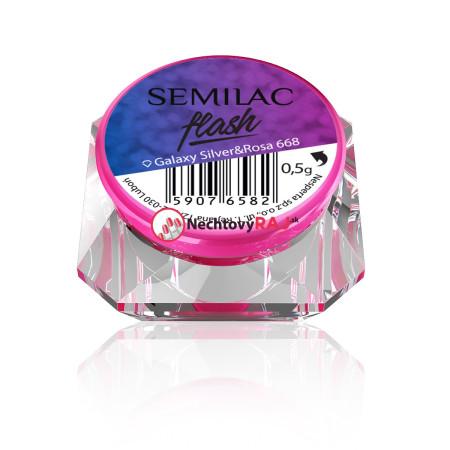 SemiFlash Galaxy Silver rosa 668 NechtovyRAJ.sk - Daj svojim nechtom všetko, čo potrebujú