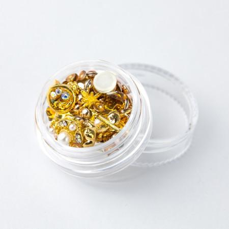 Ozdoby na nechty mix 03 - zlaté