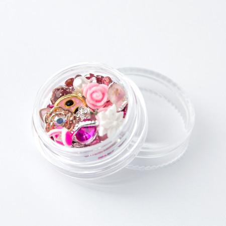 Ozdoby na nechty mix 04 - ružové