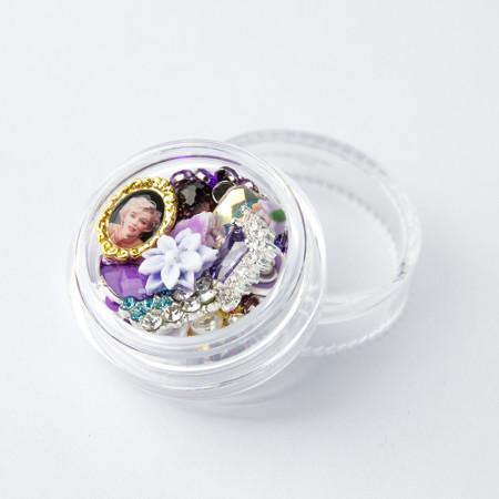 Ozdoby na nechty mix 06 - fialové NechtovyRAJ.sk - Daj svojim nechtom všetko, čo potrebujú