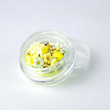 Ozdoby na nechty mix 12 - neón žlté