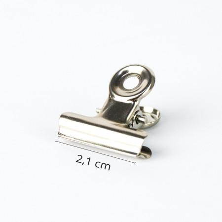 """Svorka na """"pinčovanie"""" - kovová 2,1 cm"""