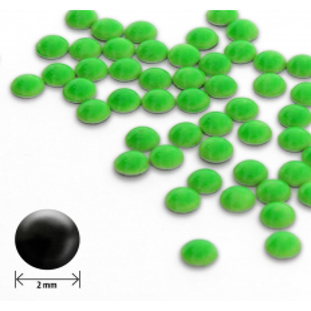 Ozdoby okrúhle vypuklé 2mm- neon zelené 50 ks NechtovyRAJ.sk - Daj svojim nechtom všetko, čo potrebujú