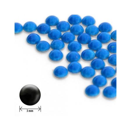 Ozdoby okrúhle vypuklé 3mm - neon modré NechtovyRAJ.sk - Daj svojim nechtom všetko, čo potrebujú