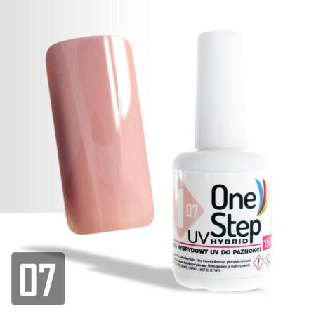 Gél lak One step NR 3v1 07. 6 ml - Telový