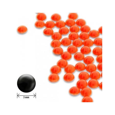 Ozdoby na nechty okrúhle vypuklé 3mm - neon orange NechtovyRAJ.sk - Daj svojim nechtom všetko, čo potrebujú