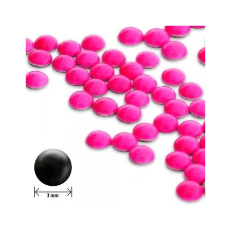 Ozdoby na nechty okrúhle vypuklé 3mm - neon ružové NechtovyRAJ.sk - Daj svojim nechtom všetko, čo potrebujú