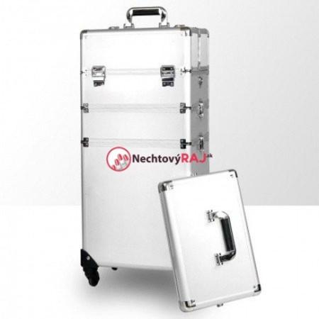Kozmetický kufrík veľký strieborný 3 NechtovyRAJ.sk - Daj svojim nechtom všetko, čo potrebujú