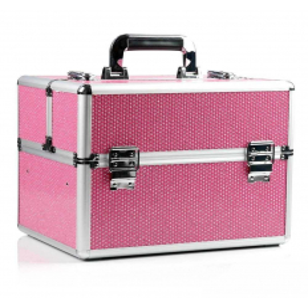 Kozmetický kufrík - ružový so zirkónovými kamienkami NechtovyRAJ.sk - Daj svojim nechtom všetko, čo potrebujú