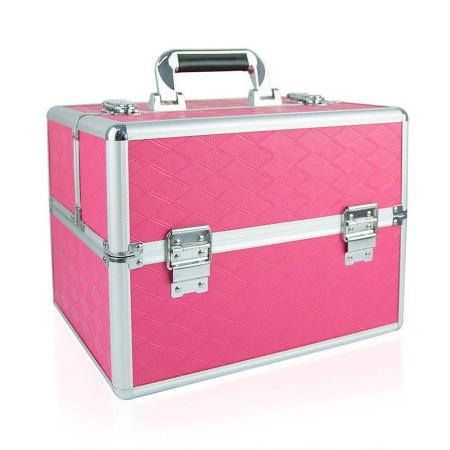 Kozmetický kufrík - ružový N09 NechtovyRAJ.sk - Daj svojim nechtom všetko, čo potrebujú