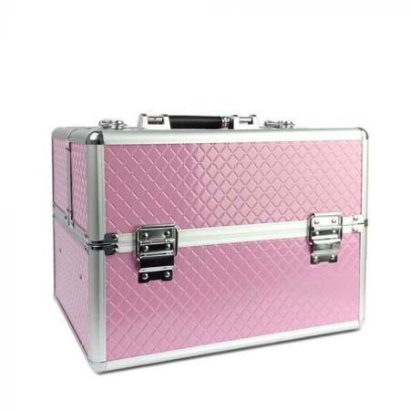 Kozmetický kufrík vzor ružový diamant 3D - NechtovyRAJ.sk