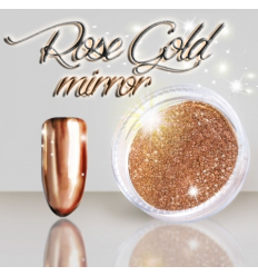 Rose gold mirror zalešťovací pigment 3 ml