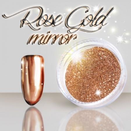 Rose gold mirror zalešťovací pigment 3 ml NechtovyRAJ.sk - Daj svojim nechtom všetko, čo potrebujú