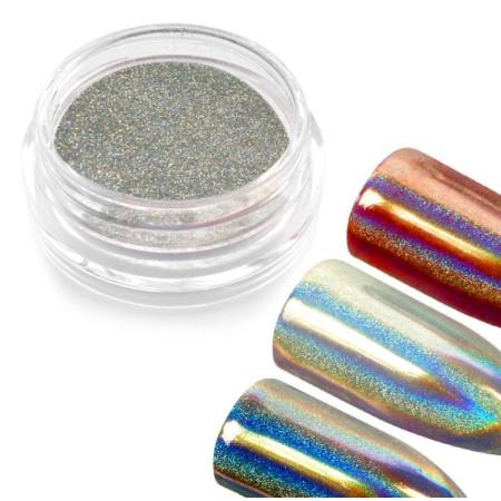 Holografický prášok na nechty - Holo mirror powder