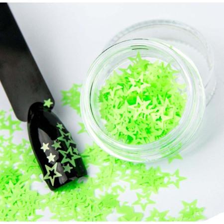 Ozdobné hviezdičky na nechty 09 - neón zelené NechtovyRAJ.sk - Daj svojim nechtom všetko, čo potrebujú