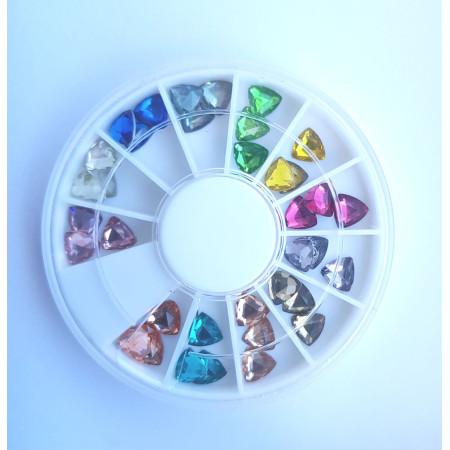 Farebné 3D ozdoby na nechty farebné diamanty - NechtovyRAJ.sk