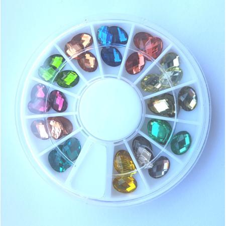 Farebné 3D ozdoby na nechty farebné ovál NechtovyRAJ.sk - Daj svojim nechtom všetko, čo potrebujú