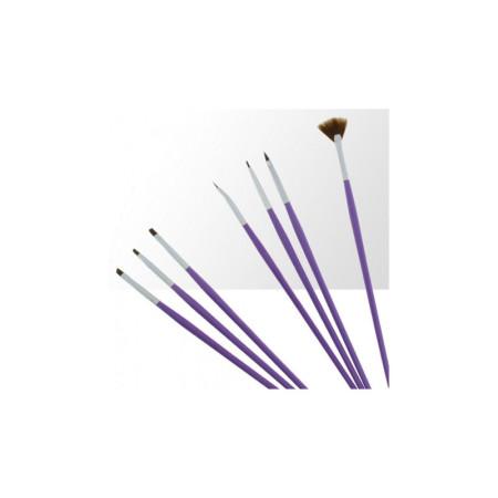Sada štetcov pre nail art fialová 7 ks NechtovyRAJ.sk - Daj svojim nechtom všetko, čo potrebujú
