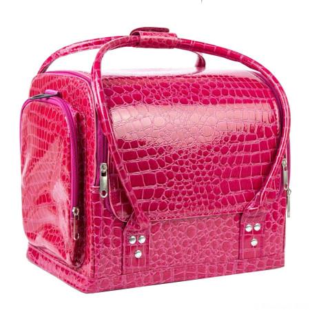 Luxusný kozmetický kufrík - ružový krokodíl 07-NechtovyRAJ.sk