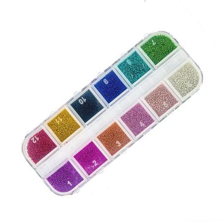 Sada farebných perličiek - mix 12 farieb