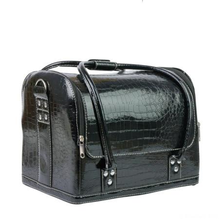 Luxusný kozmetický kufrík - čierny krokodíl mod.01 - NechtovyRAJ.sk