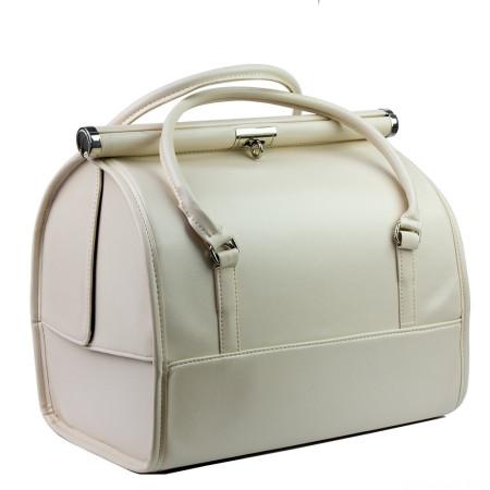 Luxusný kozmetický kufrík - béžový 012 NechtovyRAJ.sk - Daj svojim nechtom všetko, čo potrebujú