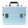 Kozmetický kufrík - modrý so zirkónovými kamienkami