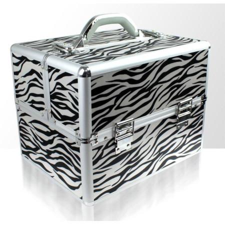 Kozmetický kufrík - zebra NechtovyRAJ.sk - Daj svojim nechtom všetko, čo potrebujú