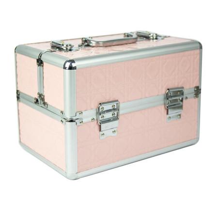 Kozmetický kufrík malý svetlo ružový