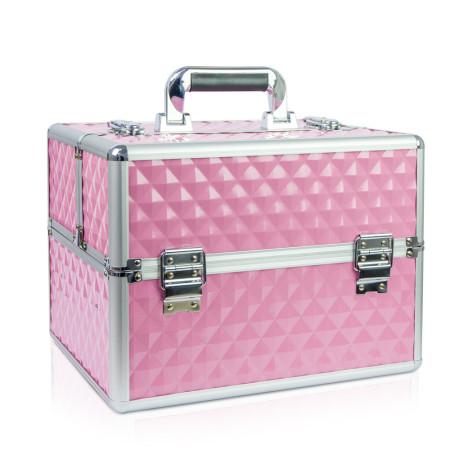 Kozmetický kufrík 503 - 3D ružový - NechtovyRAJ.sk