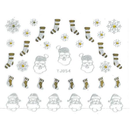 3D nálepky na nechty- vianočné yj054 NechtovyRAJ.sk - Daj svojim nechtom všetko, čo potrebujú