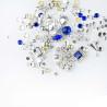 Ozdoby na nechty mix 10 - strieborno modré NechtovyRAJ.sk - Daj svojim nechtom všetko, čo potrebujú