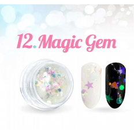 Ozdobné hviezdičky Magic Gem 12.
