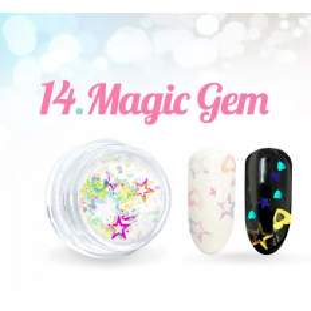 Ozdobné hviezdičky Magic Gem 14.