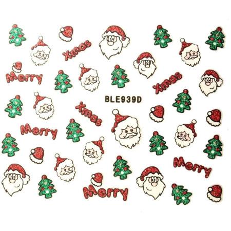 Vianočná glitrová nálepka na nechty 939d NechtovyRAJ.sk - Daj svojim nechtom všetko, čo potrebujú
