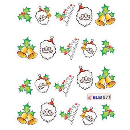 Vianočné vodolepky Mikuláš a zvončeky - ble1577