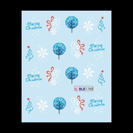 Vianočné vodolepky Merry Christmas-ble1760 NechtovyRAJ.sk - Daj svojim nechtom všetko, čo potrebujú