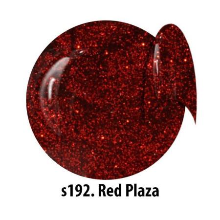 Glitrový UV gél NTN S192 Red Plaza 5 ml