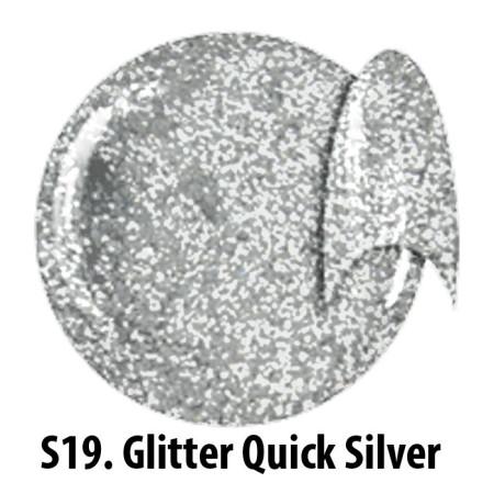 Glitrový uv gél NTN S19 Quick Silver 5g NechtovyRAJ.sk - Daj svojim nechtom všetko, čo potrebujú