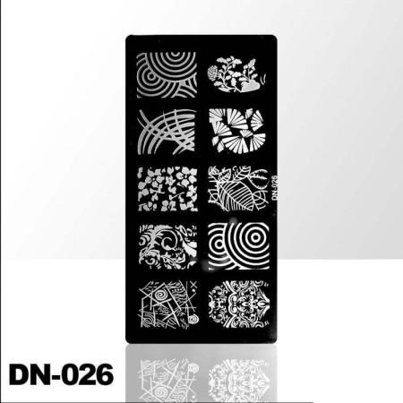 Doštička na pečiatkovanie DN026 NechtovyRAJ.sk - Daj svojim nechtom všetko, čo potrebujú