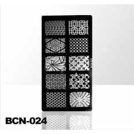 Doštička na pečiatkovanie BCN-024 NechtovyRAJ.sk - Daj svojim nechtom všetko, čo potrebujú