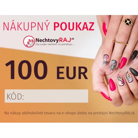 DARČEKOVÁ POUKÁŽKA 100 EUR NechtovyRAJ.sk - Daj svojim nechtom všetko, čo potrebujú
