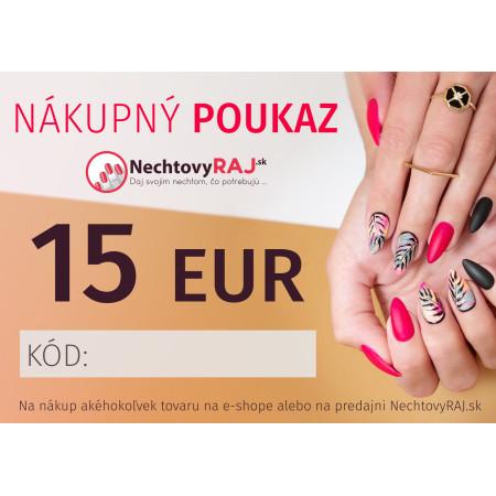 DARČEKOVÁ POUKÁŽKA 15 EUR NechtovyRAJ.sk - Daj svojim nechtom všetko, čo potrebujú